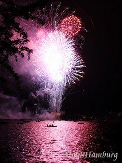 外アルスター湖での花火大会